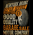 retro car service sign vector image vector image