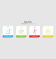 scale icons vector image vector image