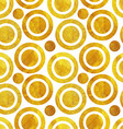 Seamless pattern of Golden circles vector image vector image