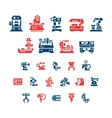 Set color icons of machine tool robotic industry vector image vector image