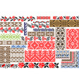 set of 30 seamless ethnic patterns for embroidery vector image vector image