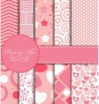 Set of Beautiful Paper for Scrapbook vector image