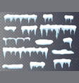 set of cartoon snow design element on transparent vector image