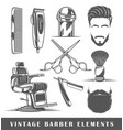 set of elements of the barbershop vector image