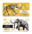 Sketch Hand Drawn Mammoth Banners vector image vector image