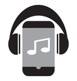Smart phone music vector image