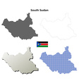 South Sudan outline map set vector image vector image