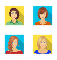 the appearance of a woman with a hairdo the face vector image vector image