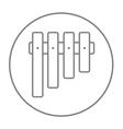 Vibraphone line icon vector image vector image