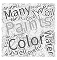 water color painting Word Cloud Concept vector image vector image