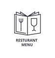 restaurant menu line icon outline sign linear vector image