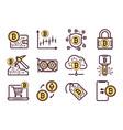 bitcoin mining icons set
