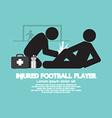 Injured Football Player vector image