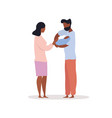 04 couple holding their baby vector image vector image