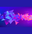 abstract 3d geometric shape isolated vector image