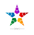 Abstract futuristic colorful Star on white vector image