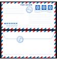 Airmail envelope on black