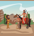 american indian warriors tribe vector image vector image