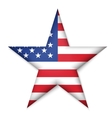 American United States Flag in glossy star button vector image