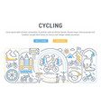 banner cycling vector image vector image