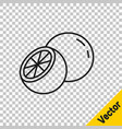 black line orange fruit icon isolated on vector image vector image