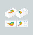 business card template 4 vector image