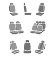 Car Seat icons vector image