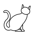 Cat icon outline style vector image vector image