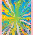 celebratory burst background with stars vector image