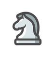 chess knight horse icon cartoon vector image
