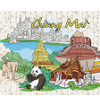 chiang mai doodles vector image vector image