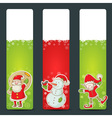 Christmas congratulation stickers vector image