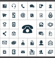 contact us icons universal set for web and ui vector image vector image