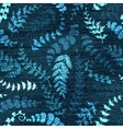 Denim floral seamless pattern Jeans vector image vector image