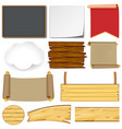 different designs for signs and boards vector image vector image
