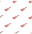 electric guitar icon in cartoon style isolated on vector image