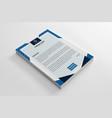 elegant corporate blue letterhead template vector image vector image