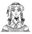 girl 4 vector image