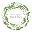 green wreath frame made from twigs and leaves of vector image vector image