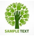 Hands of tree vector image