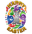 happy easter typographical vector image