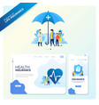 health insurance to protect family vector image vector image