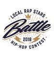hip-hop battle emblem vector image vector image