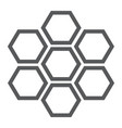 honeycomb line icon bee and honey hexagon sign vector image