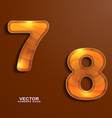 icons wood texture numbers 78 vector image vector image