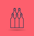 isolated linear icon of wine bottles vector image vector image