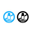 lactose free logo food icon vector image
