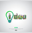 light bulb idea concept background vector image