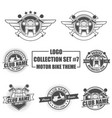 logo collection set with motorbike theme vector image vector image