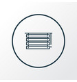 louvers icon line symbol premium quality isolated vector image vector image